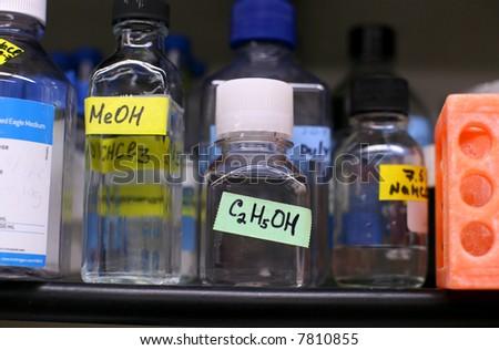chemistry - bio lab - stock photo