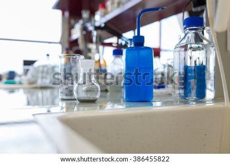 chemistry lab - stock photo