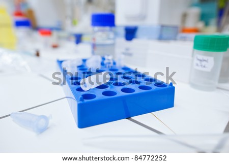 chemistry lab (shallow DOF) - stock photo
