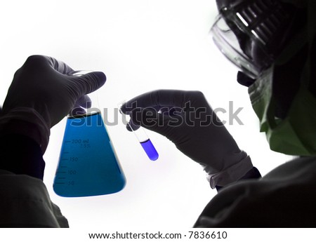 Chemistry - Lab Worker - stock photo