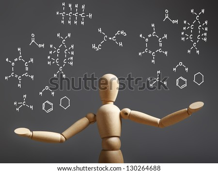 Chemistry Science Concept with chemistry formula