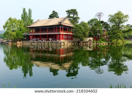 Chengde Mountain Resort, China - UNESCO World Heritage Site - stock photo