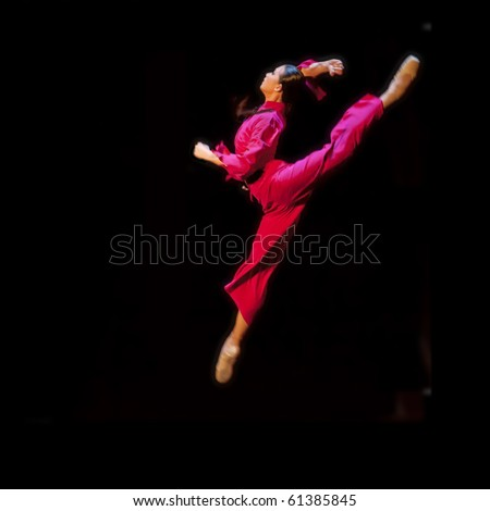 CHENGDU - SEP 5: The national ballet of china perform The Red Detachment of Women at SICHUAN coliseum SEP 5, 2010 in Chengdu, China. - stock photo