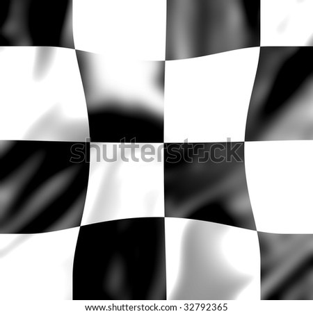 chequered black and white flag with some folds in it