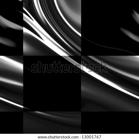 chequered racing flag with some folds in it - stock photo