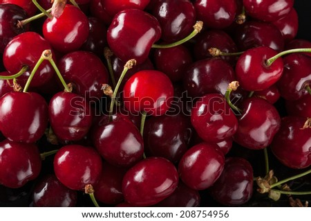 cherries as a background - stock photo
