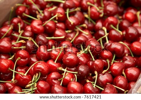 cherries as background