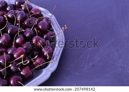 cherries on a plate, vintage style cherries, cherry, background,