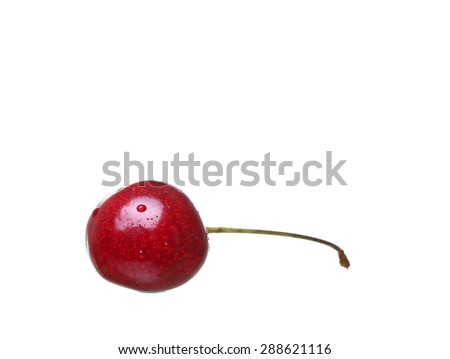 cherry berries isolated on white background cutou