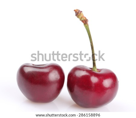 Cherry berry isolated on white background cutout