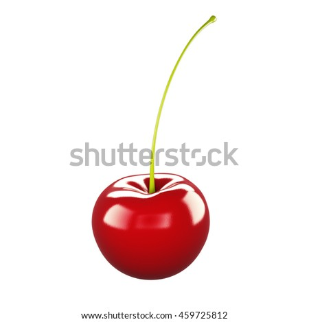 Cherry 3D rendering on a white background.