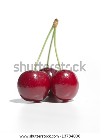 cherry isolated a white background