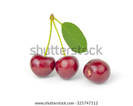 cherry isolated on a white cutout