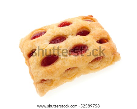 Cherry strudel bar - stock photo