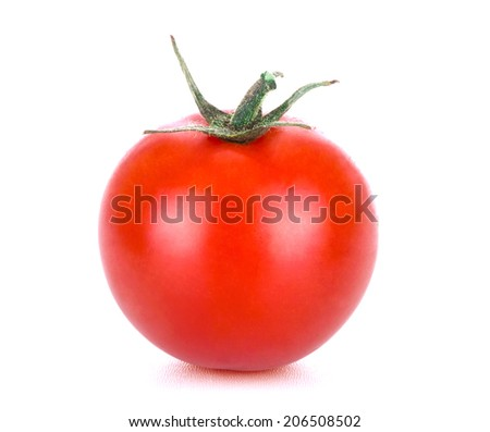 Cherry tomato, isolated on white - stock photo
