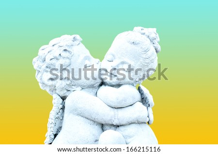 cherub - stock photo