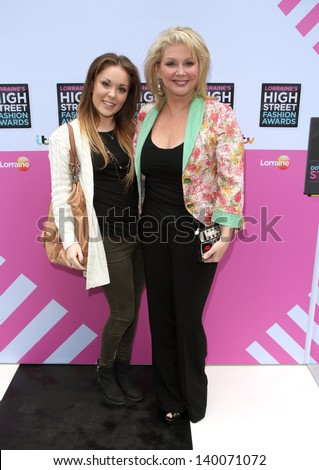 Cheryl Baker and daughter Natalie arriving for Lorraine's High Street Fashion Awards, London. 22/05/2013