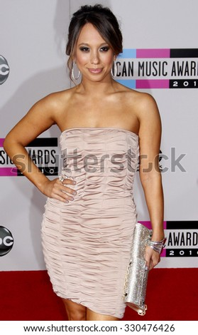 Cheryl Burke at the 2010 American Music Awards held at Nokia Theatre L.A. Live in Los Angeles, USA on November 21, 2010.
