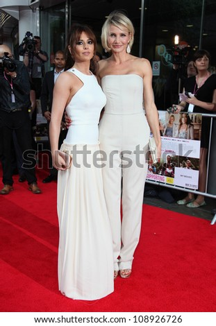 Cheryl Cole and Cameron Diaz arriving for the UK Premiere of 'What To Expect When You're Expecting' at the Imax Cinema, London. 22/05/2012 Picture by: Alexandra Glen / Featureflash - stock photo