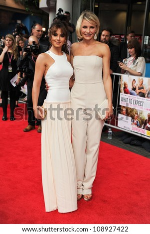 Cheryl Cole and Cameron Diaz arriving for the UK Premiere of 'What To Expect When You're Expecting' at the Imax Cinema, London. 22/05/2012 Picture by: Steve Vas / Featureflash - stock photo