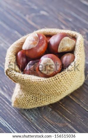 chesnuts - stock photo