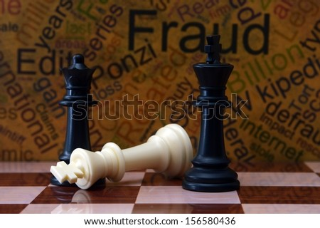 Chess and fraud concept - stock photo