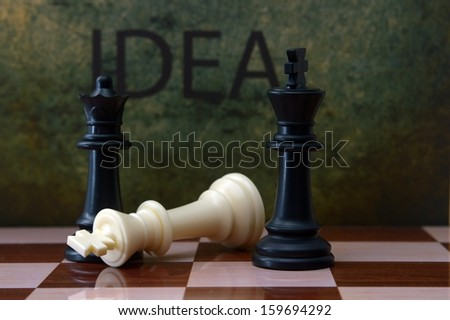 Chess and idea concept