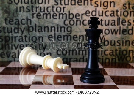 Chess and learn concept - stock photo