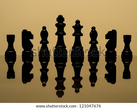 Chess banner background - stock photo