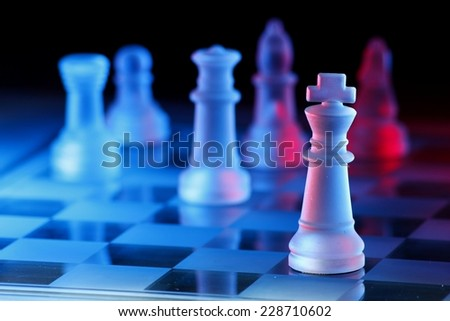 Chess Board Game Photo of a glass chess board game - stock photo