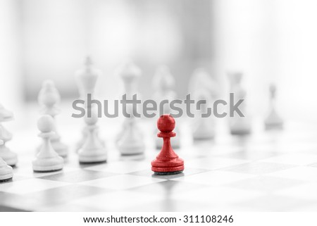 Chess business concept, leader & success - stock photo