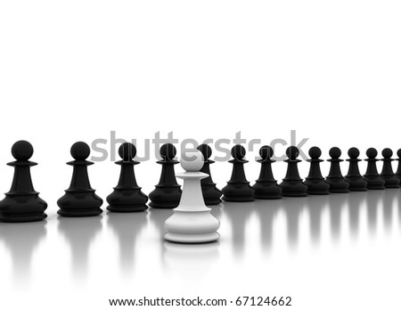 Chess concept - stock photo
