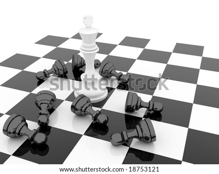 Chess concept - winner