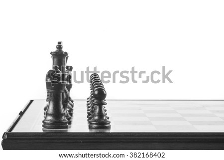 chess deployed on the board