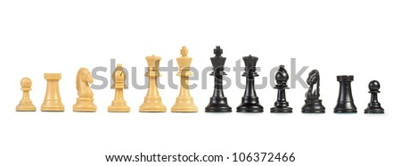 Chess figure isolated on the white background - stock photo