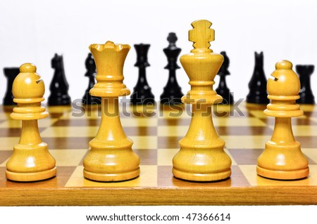 Chess. Focus on foreground. Shallow dof. - stock photo