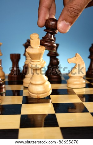 Chess game-Check mate - stock photo