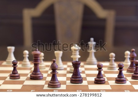 Chess game. Concept of game and competition. - stock photo