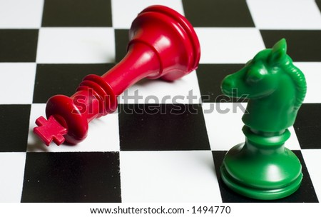 Chess Green Horse Queen