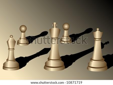 Chess illustration 1 - stock photo