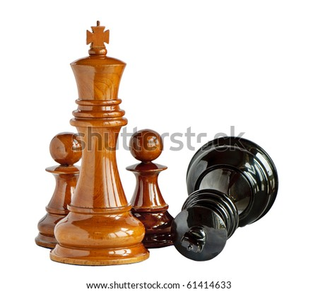 Chess isolated on white - stock photo