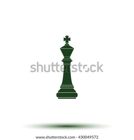 Chess king icon. - stock photo