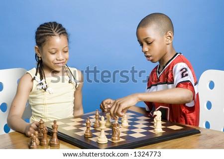 Chess match - stock photo