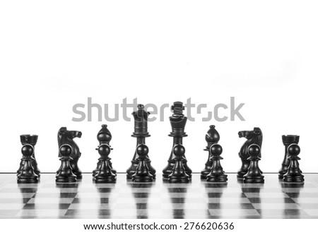chess pawns - stock photo