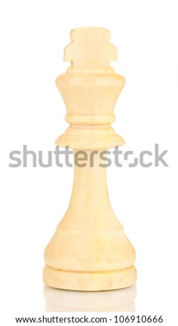 Chess piece isolated on white - stock photo