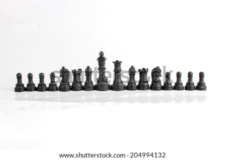 chess pieces isolated on a white background
