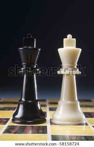 chess pieces on a board showing concept for strategy