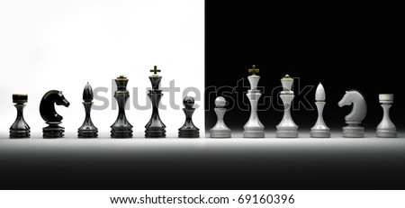 Chess pieces set a complete set of chess pieces. isolated. 3d rende - stock photo