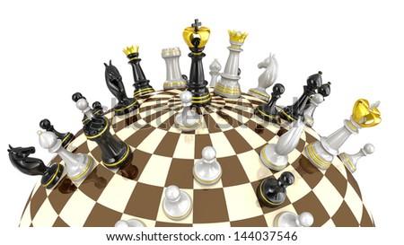Chess planet concept - stock photo