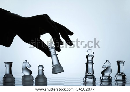 Chess Set Collection represents business or politic strategy. - stock photo